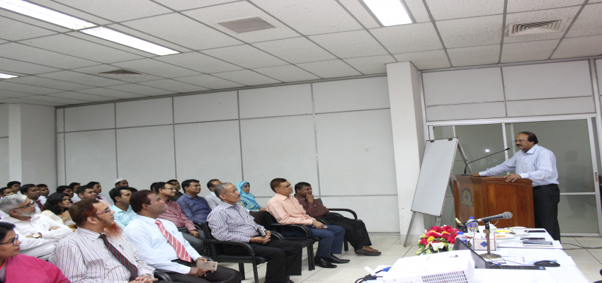 A session Conducted by Principal Secretary Sir